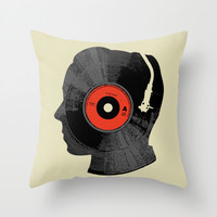 The Song In My Head Throw Pillow by Budi Satria Kwan