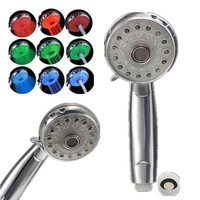 Bathroom Accessories 3 Color LED Shower Temperature Product