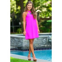 Sweet Nothings Dress-Fuchsia