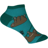 Sloth Ankle Socks in Turquoise