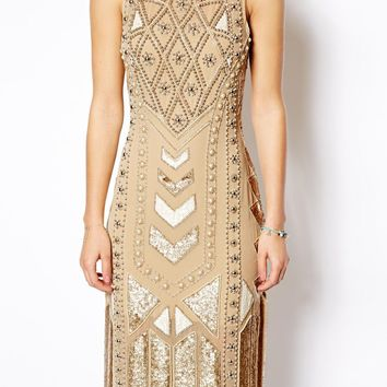 Needle & Thread Geo Era Midi Dress