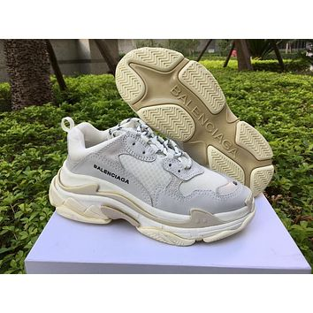 Balenciaga Triple S Trainers Creamy White Sneakers 35-44