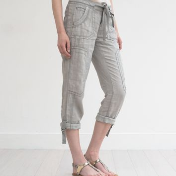 Ali Roll-up Linen Utility Pant
