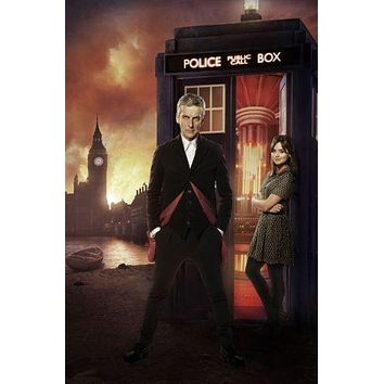 Peter Capaldi Doctor Who poster Metal Sign Wall Art 8in x 12in