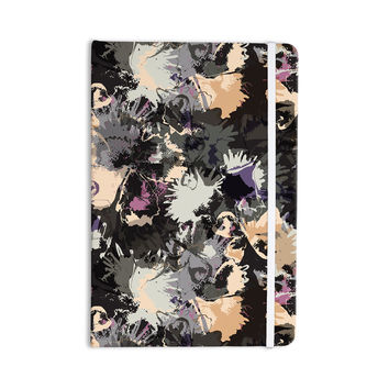 "Jessica Wilde ""Punk Floral"" Black Purple Everything Notebook"