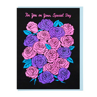 Roses on Your Special Day Greeting Card