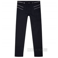 Indie Designs Saint Laurent Inspired Black Zip Accent Jeans