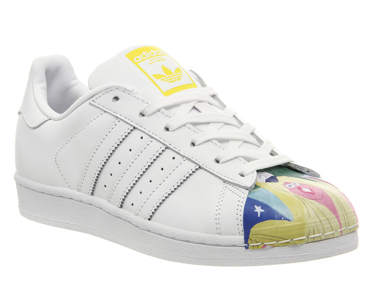 size 40 c2a30 c9aa2 Adidas Superstar 1 Todd James White Mono Multi Shell Toe - His trainers