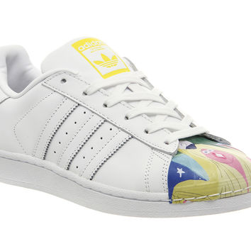 Adidas Superstar 1 Todd James White Mono Multi Shell Toe - His trainers