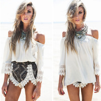 Loose T-shirt and Shorts two Piece Set 3491805
