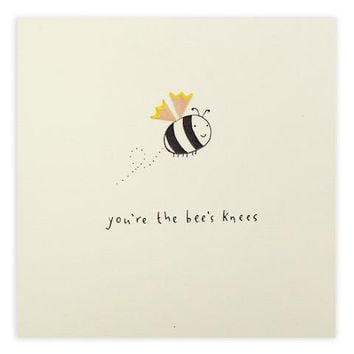 "Valentine ""Bee's Knees"" Pencil Shavings Card"