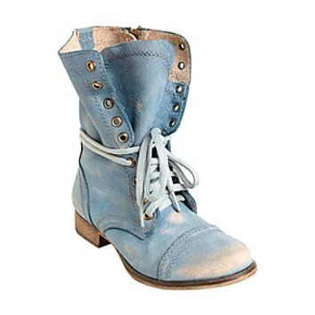 "Steve Madden® ""Troopa"" Combat Boots at www.herbergers.com"