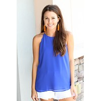 Scallop Tank - Royal Blue