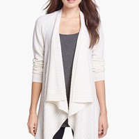 Nordstrom Collection Engineered Rib Cashmere Cardigan | Nordstrom