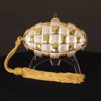 JUDITH LEIBER-Gold & Silver Evening Clutch