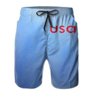 Usa Golf 1 Mens Fashion Casual Beach Shorts
