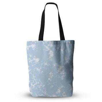 "Vasare Nar ""Marble Clouds"" White Blue Everything Tote Bag"