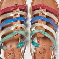 AEO Women's Bright Strappy Sandal (Tan)