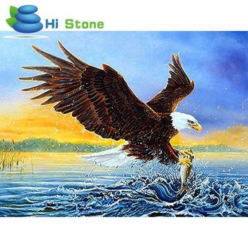 Animals Philadelphia Eagle Ocean DIY 5D Diamond Mosaic Full Diamond Painting Embroidery Cross Stitch Kits Creative Man  Gifts