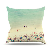 "Ingrid Beddoes ""Happy Summer"" Beach Throw Pillow"