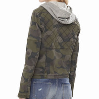 Camouflage Quilted Twill Jacket from EXPRESS