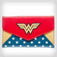 Wonder Woman Stars Envelope Wallet