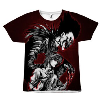 Death Note - Kira and Ryuk - All Over Print T Shirt - TL00910AO