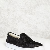 Crushed Velvet Slip-On Sneakers