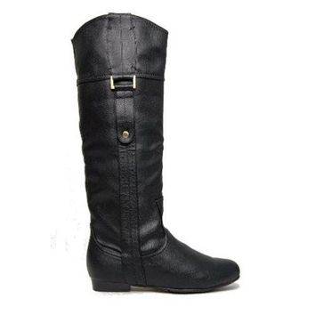 CREYONIG Chelsea Crew Beverly- Black Knee-High Boots