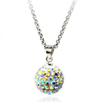 Women Female Jewelry Hot Sale Rhinestone crystal Ball Bead fashion Shinny necklace for Women.QQFJ3