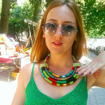 Massai Necklace, Statement Necklace, Ethnic Necklace, Rope Necklace, Gift For Her, african necklace, African Jewelry Africa necklace