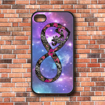 Infinity Love Browning Deer Camo With Nebula Galaxy iPhone 4/4s/5, Samsung Galaxy S3/S4 & iPod 4/5 Case. Choose the option