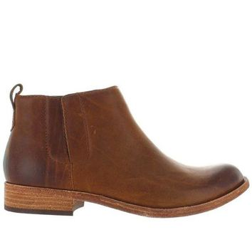 ONETOW Kork-Ease Velma - Brown Leather Pull-On Bootie