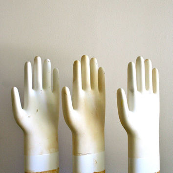 vintage glove molds: three