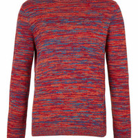 Red Random Mix Knit Sweater - New In