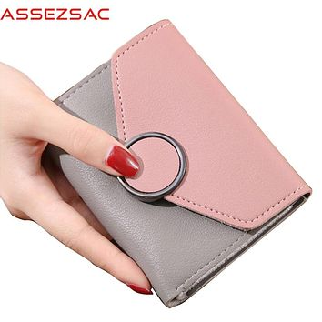 Assez sac new comes women wallets 2017 women leather bags cute purse credit card holders small coin keepers bolsas purses