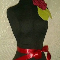 Black Boutique dress form bust craft shop display French mannequin sale