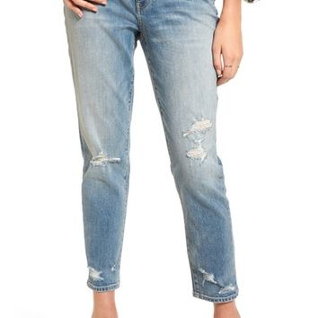 Treasure & Bond Loose Fit Slim Jeans (Gravel Light Destroy) | Nordstrom