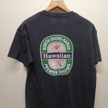 25% SALES ALERT Vintage 90's Hang Loose Hawaii Surfrider T Shirt Sport Street Wear Swag Top Tee Surf Surfing Size L