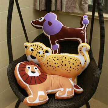 Cute Kids Cushion Tiger/Whale/Elephant/Lions /Dog Creative Children Christmas Gift Stuffed Home Decoration Pillow Cushions