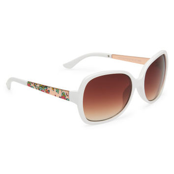 Metal Trim Oversized Sunglasses - Aeropostale