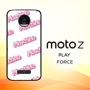 moschino pattern Z5297 Motorola Moto Z Force Case
