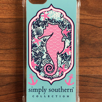 Simply Southern Seahorse iPhone Case