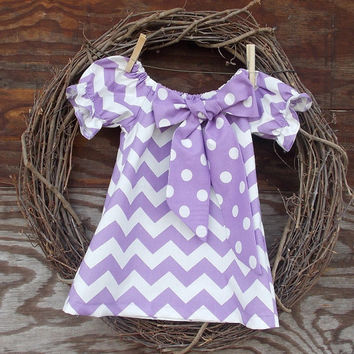 Girls Lilac Chevron Dress, Chevron dress, Girls Easter Dress, Spring Dress 6, 12, 18, 24 mon, 2 T, 3 T, 4 T, 5, 6, 7, 8, 10