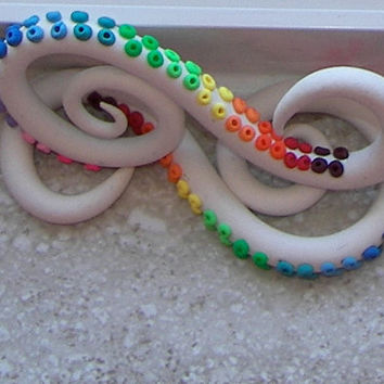 "Rainbow Tentacles Plugs - One PAIR - 2g, 0g, 00g, 7/16"", 1/2"", 9/16"", 5/8"" - Made to Order"
