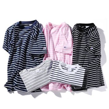 spbest Champion Simple stripe T-Shirt