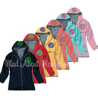 NAVY Women's Monogrammed New Englander Rain Jacket - ONE  Monogram