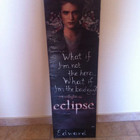 Edward Cullen Twilight Eclipse Poster Canvas