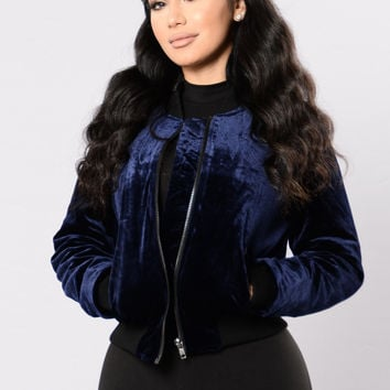 Baby You Feel Me Jacket - Navy