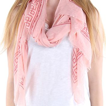 FRAYED EDGESCARF HINDU ELEPHANT PRINT